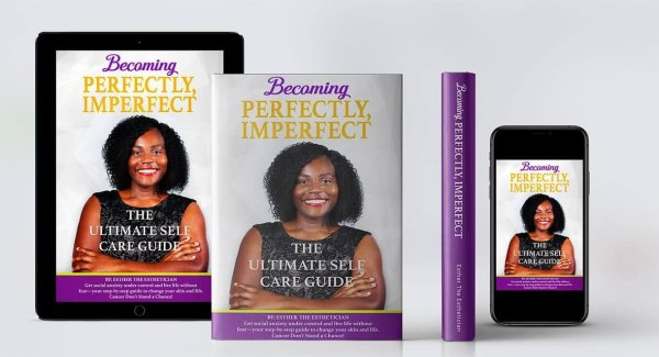 becoming perfectly, imperfect. the ultimate self care guide luxury lotus spa in tampa florida black esthetician black own business esther the esthetician nelson esther nelson author