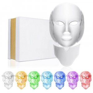 LED MASK Face mask light therapy for acne, acne scars, brown spots, ingrown hairs in the chin area, fine lines and wrinkles